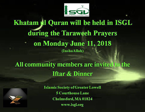 Khatam ul Quran – ISLAMIC SOCIETY OF GREATER LOWELL